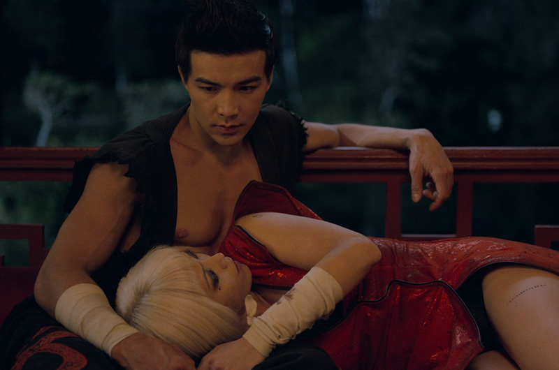 Ludi lin with Pom klementieff in Netflix Original Black Mirror Striking Vipers