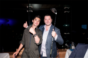Ludi Lin at the yachgolf Event Hubolt Watches
